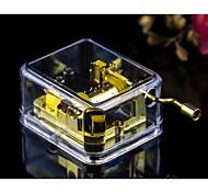 Transparent Acrylic Wind-up Music Box