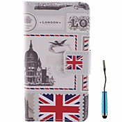 British Envelope Pattern PU Leather Full Body Case with Touch Pen for Samsung Galaxy A3 A3000