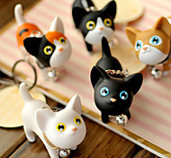 Lovely Silicone Small Cat KeyChain(Assorted Colours)