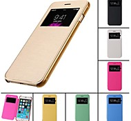 Touch View Flip Back Transparent Full Body Case for iPhone 4/4S (Assorted Color)