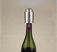 Edelstahl-Weinstopper, Edelstahl + Silikon 7,5 x 4,5 x 4,5 cm (3,0 x 1,8 x 1,8 Zoll)