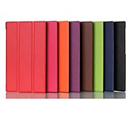 7 pulgadas de tres patrón de plegamiento caso de alta calidad de cuero PU para bloc de notas asus 7 (me572cl) (colores surtidos)