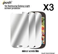 alta transparencia espejo Protector de pantalla para Samsung luz (3 piezas)