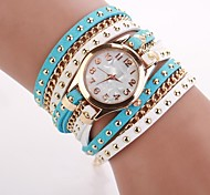 Women's  Small  Round  Dial  Diamante Mushroom Circuit   Flocking  Chain Band Quartz  Watch C&d338
