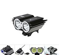 Luci bici / Luce frontale per bici / luci incandescenza bici / Lampadine LED LED Cree XM-L T6 Ciclismo Impermeabili 18650 5000 Lumens