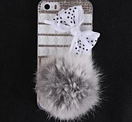 By the Girl Like Fuzzy and Set Auger and Bowknot Design Hard Case with Diamond Camera Chrome for iPhone 5/5S