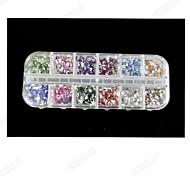 2500PCS 2MM  RecTangular Acrylic Diamond Nail Art Decoration