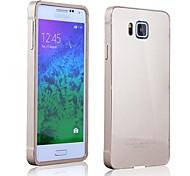 vidro acrílico tampa traseira + alumínio metálico caso arco amortecedor para Samsung Galaxy alfa alfa sm-G850