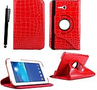 360 gradi caso stampa coccodrillo rotante karzea ™ con supporto e lo stilo per Samsung Galaxy 3 lite T110 / T111