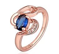 moda feminina subiu anéis de moda zircão ouro (ouro rosa) (1pcs)