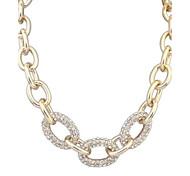 European Style Metal Wild Fashion Style Rhinestone Necklace