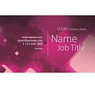 Personalized Business Cards 200 PCS Classic Pattern 2 Sided Printing of Fine Art Filmed Paper