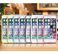 transparente dur cas de couverture pc TPU pour iPhone 6 (de couleurs assorties)