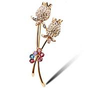 Korean High-grade Crystal Roses Brooch