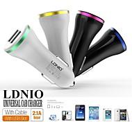 ldnio® 12v ~ 24v voiture double USB allume-cigare tension de sécurité de chargeur pour iPhone / Samsung et d'autres (5v-2.1a)
