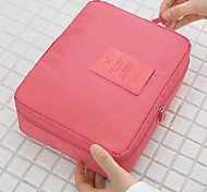 Makeup Storage Cosmetic Bag / Makeup Storage Solid 21*16*8 Grey / Blue / Pink