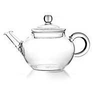 250ml Glass Teapot with Strainer Heat Resisitant Tea Pot 15 x 9 x 7cm