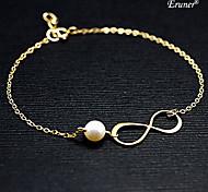 Eruner®Infinity Pearl Alloy Sister Friendship Bracelet Bridesmaid Gift