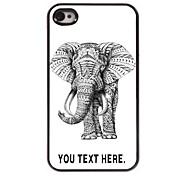 personalisierte Fall Elefantentwurf Metallkasten für iphone 4 / 4s