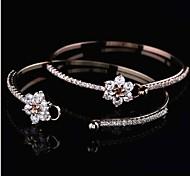moda brilhante de cristal pulseiras de gama alta das mulheres
