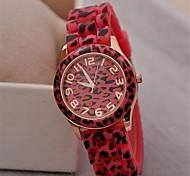 Women's Watch Fashion Geneva Leopard Print Quartz Silicon Band(Assorted Colors)