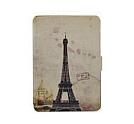Shy Bear™ Eiffel Tower Leather Cover Case for Amazon New Kindle 2014 Touch Screen(Kindle 7th)