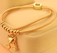 Fashion Bear Plastic Charm Bracelet(1pc)(more colors)