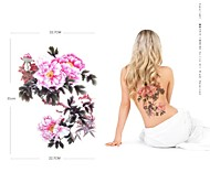1 pz impermeabile grande rosa rosa backup adesivi modello tatuaggio