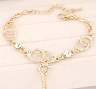 Fashion Sweet Personality Diamond Handcuffs Key Bracelet