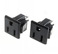 DIY 3-Pin 15A / 250V Power Socket Outlet (2pcs)