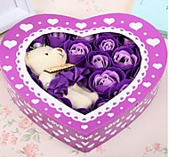 Valentine's Day Gift Romantic 20pcs Love Roses Soap Flowers With One Bear