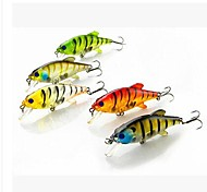 Hot Sale 10g 7cm Hard Plastic Sinking Baits Minnow Sea Fishing Lures(5pcs)