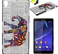 For Sony Case / Xperia Z3 Pattern Case Back Cover Case Elephant Hard PC for SonySony Xperia Z3 Compact / Sony Xperia Z2 / Sony Xperia Z3