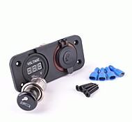 Motorcycle Voltmeter Socket  Cigarette Lighter Plug Socket
