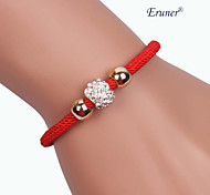 Eruner®Three beads Alloy Handmade Zircon Bracelets