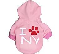 """lovely """"i ny"""" Muster Vliese Hoodies T-Shirt für Hunde (verschiedenen Größen)"""