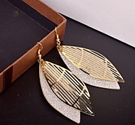 Fashion Multilevel Leaf Shape Multicolor Alloy Drop Earrings(More Color)(1 Pair)