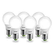 E26/E27 LED Globe Bulbs G60 SMD 400-450 lm Cool White AC 100-240 V 6 pcs