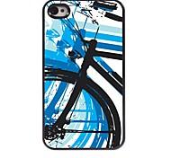 caso duro del patrón de la bicicleta de aluminio para el iphone 4 / 4s
