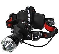 Torce frontali LED Modo 1200 Lumens Impermeabili / Resistente agli urti /  Strike Bezel / Emergenza Cree XM-L T6 18650 / AAA