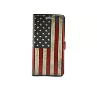 For Huawei Case with Stand / Flip Case Full Body Case Flag Hard PU Leather Huawei Huawei Honor 6