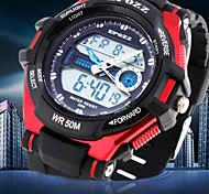 Men's Watch Waterproof Digital Multifunction Rubber Band Sports Watch(Assorted Colors)