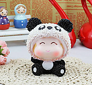 Valentine'S Day A Pair Of Furnishing Articles Animals Cute Pink Pig Black And White Bear