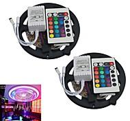 jiawen® 2pcs 5m 300x3528 SMD RGB LED-Streifen mit 24key Fernsteuerung (12 V DC)