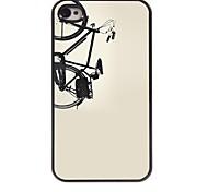 caso duro de la bicicleta de aluminio del diseño para el iphone 4 / 4s