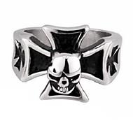 Unisex Personalized Punk Style ChromeHearts Skull Titanium Steel Rings(1Pc)