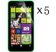 [5-Pack] High Transparency LCD Crystal Clear Screen Protector with Cleaning Cloth for Nokia Lumia 630/635/638/636