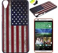 caso duro modello della bandiera americana pc e supporto del telefono per HTC Desire 820