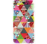 Triangle Flower Design Hard Case for iPhone 6