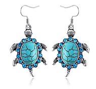 kleine Schildkröte Saphir-Ohrringe